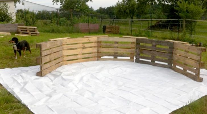 Come costruire una piscina in giardino con i pallet: semplice ed economico!