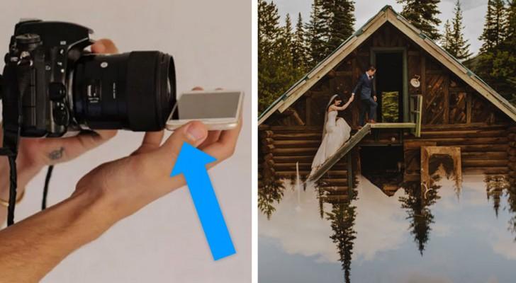 Il place son téléphone devant l'objectif : voici une technique très simple pour obtenir des photos excellentes
