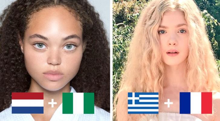 15 gezichten die de unieke aantrekkingskracht tonen die je krijgt als ver van elkaar verwijderde bevolkingsgroepen zich met elkaar mengen
