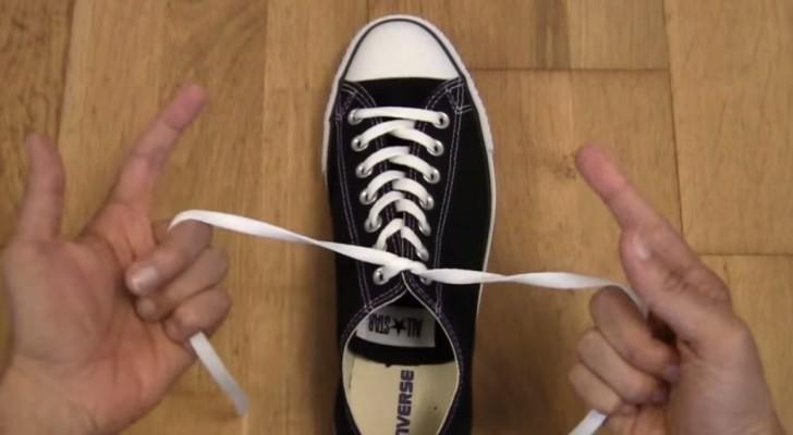 Wusstet ihr, dass es eine Methode gibt, Schuhe in 1 SEKUNDE zu binden?