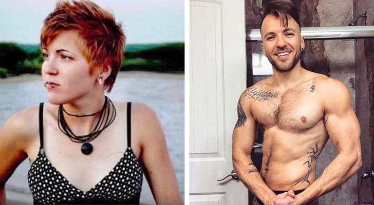 8 photos avant/après de beaux hommes, qui autrefois étaient des femmes