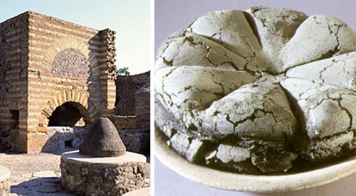 Das alte Pompeji: Die Stadt, die durch den Ausbruch des Vesuvs begraben wurde, gibt ein 2000 Jahre altes Brot INTAKT zurück
