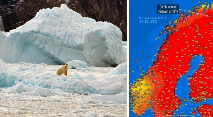Recordtemperaturen op de noordpoolcirkel: het smelten van de ijskappen heeft een punt van geen ommekeer bereikt