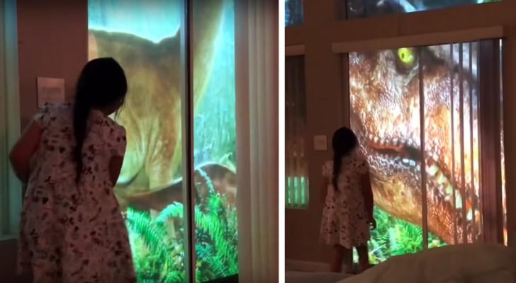 Jurassic park in de woonkamer: een ingenieuze vader creëerde een geweldige verrassing voor zijn dochter!