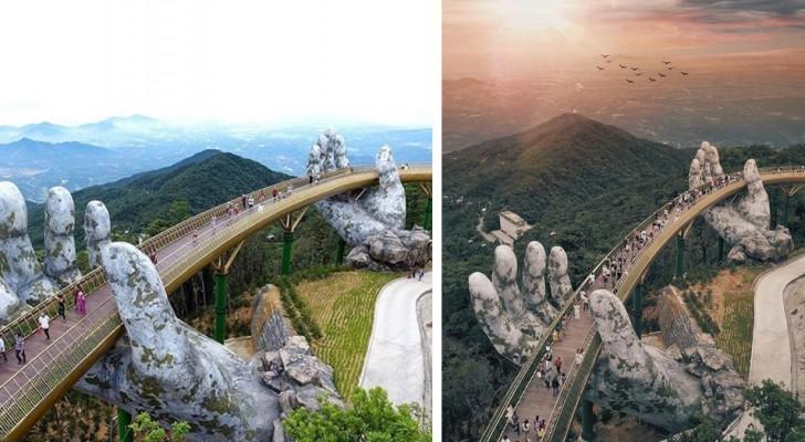 Ce pont au Vietnam vient d'être inauguré et fait déjà partie des endroits à voir une fois dans sa vie.
