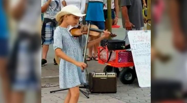 Esta niña de 9 años toca
