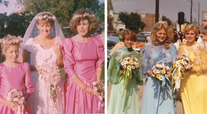 10 fotos vintage de matrimonios que los haran darse cuenta de cuanto divertidas fueron las modas del pasado