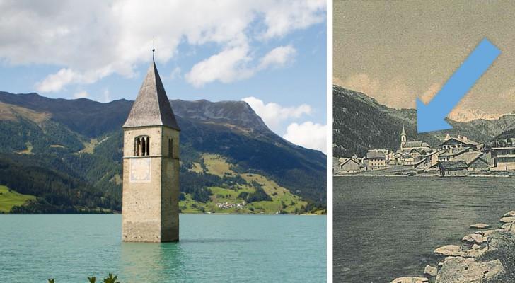 Voici la triste histoire du célèbre clocher qui émerge du lac de Resia (Italie)