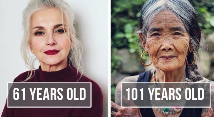 17 persone che vanno profondamente fiere dell'età che hanno
