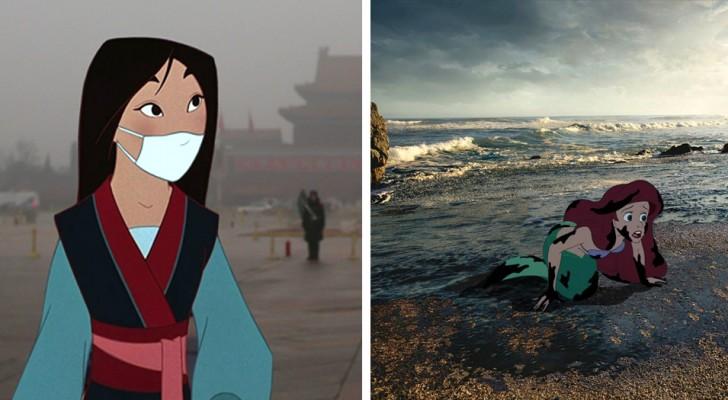 I personaggi Disney nel mondo di oggi: i disegni di questo artista arrivano dritti alle coscienze di tutti noi