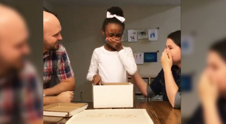 When you see this girl's reaction to the discovery of being officially adopted, it will be impossible to hold back the tears