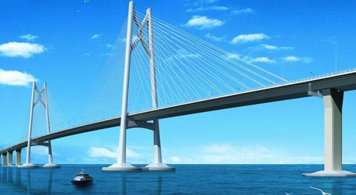 La Chine est sur le point d'inaugurer le plus long pont du monde : il fera 55 km de long