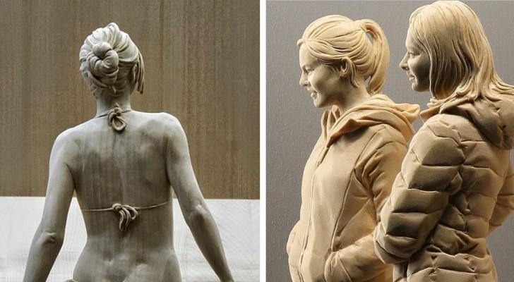Queste opere sono incredibilmente realistiche, ma è il materiale di cui sono fatte che lascia sorpresi