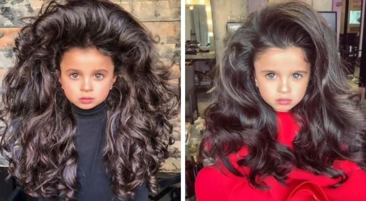 Dit meisje van 5 is beroemd geworden om haar prachtig volle haarbos