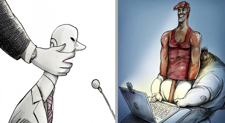 16 düstere Illustrationen, die die Dramen des modernen Alltags beschreiben