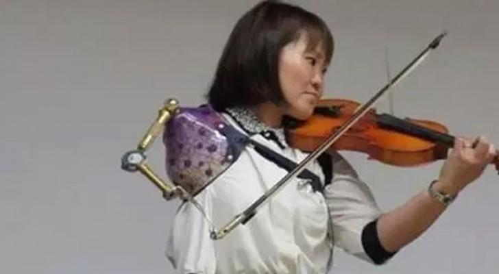 Ha imparato a suonare il violino DOPO aver perso il braccio: questa è la sua incredibile esibizione