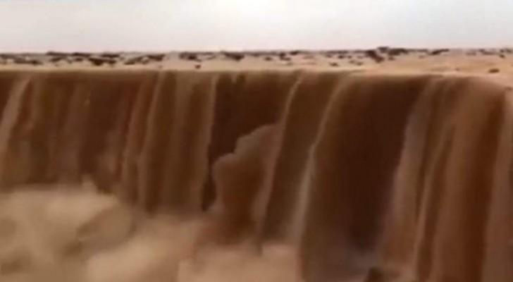 En Arabie Saoudite, les cascades sont en sable : un phénomène aussi spectaculaire que menaçant