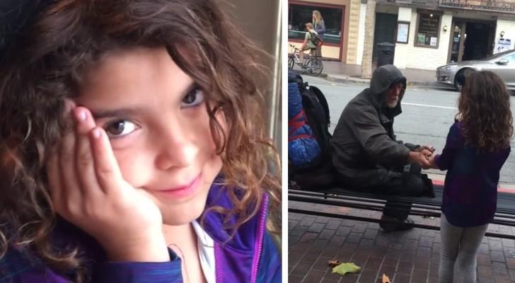 Il gesto commovente di questa bambina dimostra che c'è ancora speranza per il genere umano