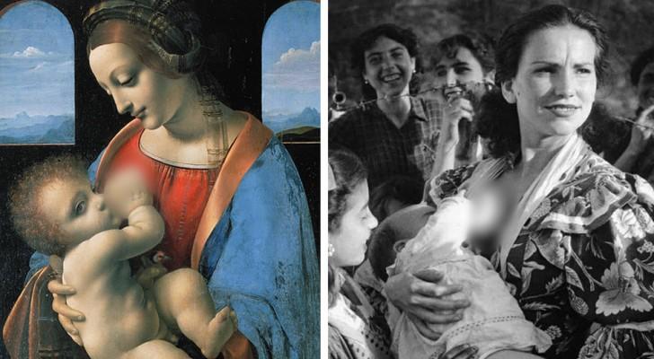 Deze foto's laten zien dat de borst geven in het openbaar een gewoonte is die al bestaat sinds mensenheugenis