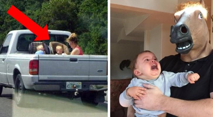 12 foto di persone che sicuramente non vinceranno il premio di migliore genitore dell'Anno