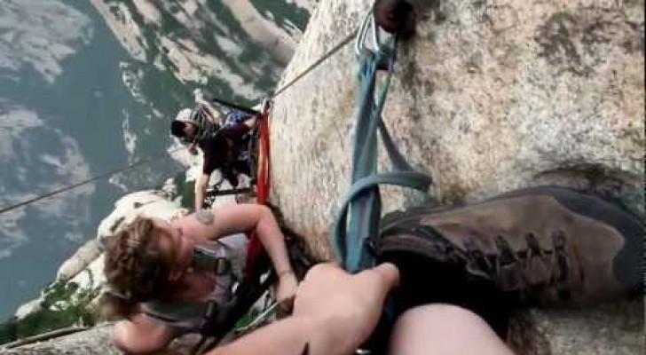 Eine Klettertour mit viel Adrenalin