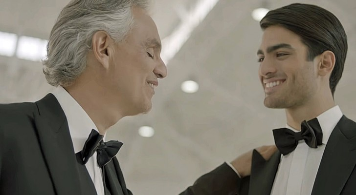 Andrea Bocelli duets with his son Matteo in his latest song and the video is pure poetry!