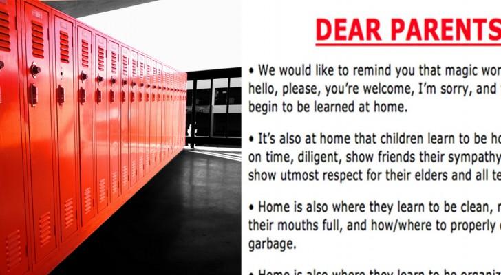 Questa scuola ha sgridato i genitori con una lettera coraggiosa: leggerla farebbe bene a tutti