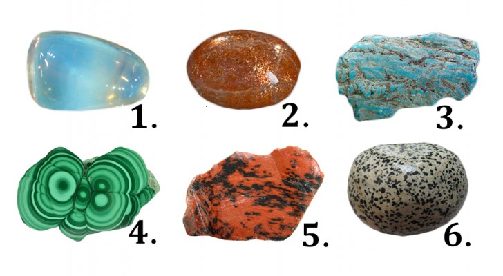 A pedra que mais chama a sua atenção entre estas pode revelar alguns aspectos da sua personalidade