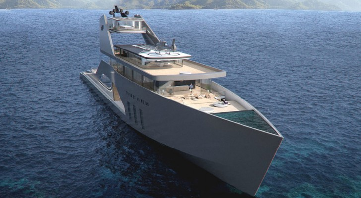 Questo super-yacht è il primo ad avere a bordo una