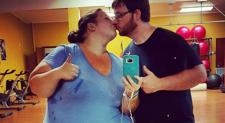 An overweight couple decides to go on a diet and the goal they reach exceeds all expectations