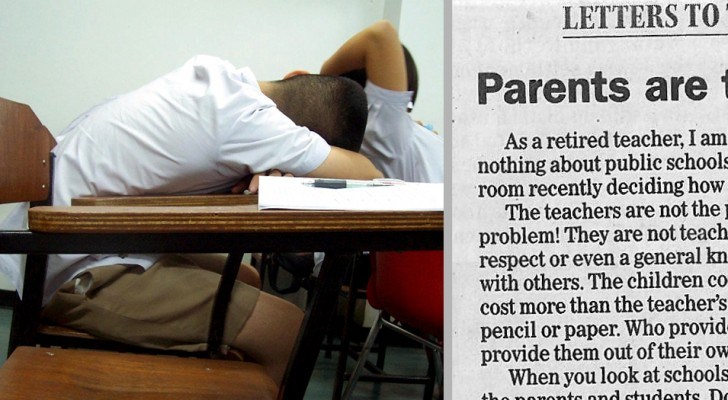 Una maestra jubilada escribe una carta a los padres irresponsables: sus palabras levantan un debate