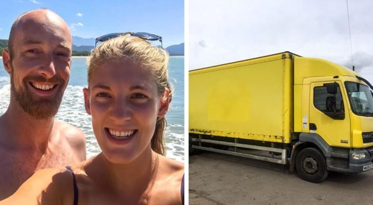 Een echtpaar koopt een oude vrachtwagen op Ebay... en verandert het in een adembenemende camper