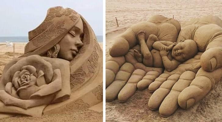 20 uitzonderlijke zandsculpturen die wel een plekje zouden mogen krijgen in een museum