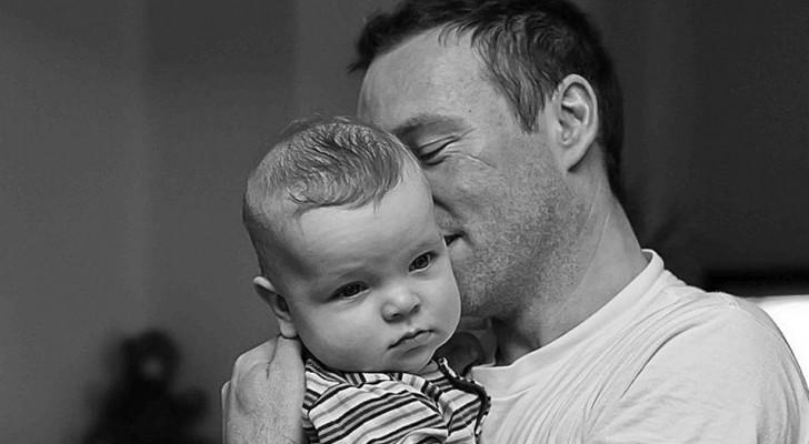 Um pai que cuida de seu filho não está