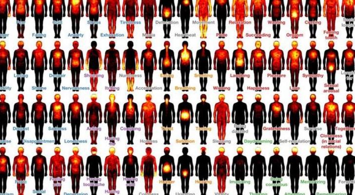 I ricercatori hanno mappato le sensazioni corporee: ecco dove le avvertiamo