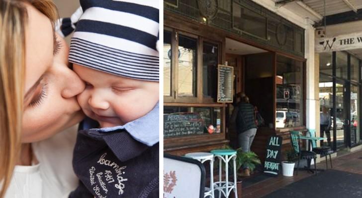 Bij deze bar krijgen kersverse moeders die de borst moeten geven een zitplaats en een gratis kop thee
