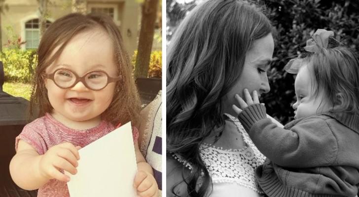 Dem Arzt, der ihr riet, eine Abtreibung vorzunehmen, schreibt sie nach 15 Monaten mit ihrer Tochter zusammen einen Brief.