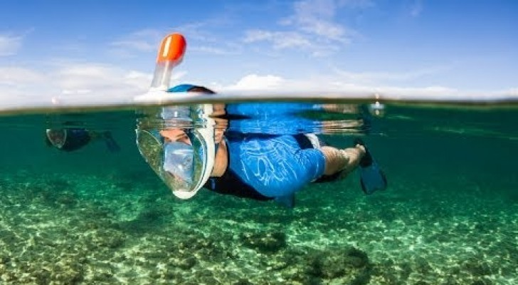 Full face snorkeling mask, a great innovation !