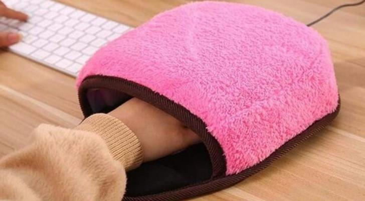 Dit is de muismat die je handen verwarmt op kantoor