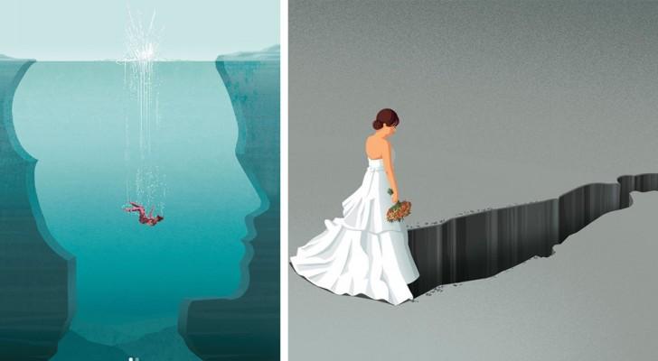 Un illustrateur explique les problèmes de la société contemporaine avec des dessins incroyablement frappants