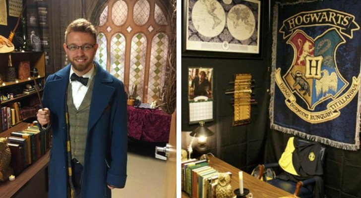 Ein Lehrer wandelt sein Klassenzimmer in Hogwarts um und braucht dafür 70 Stunden