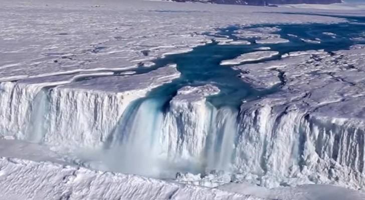 Mit dem Schmelzen des Eises füllt sich die Antarktis mit Wasserfällen, Seen und Flüssen, die es noch nie zuvor gab.