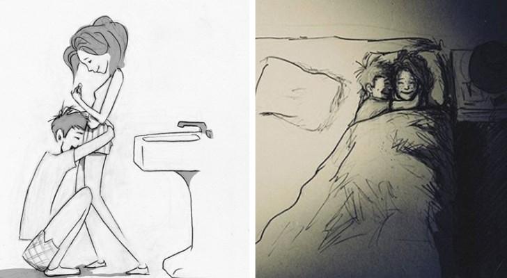 Queste tenere illustrazioni riescono a descrivere l'amore meglio di mille parole