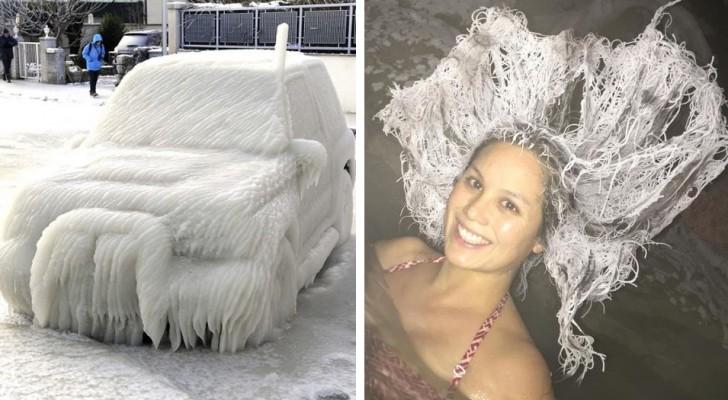 16 foto's die ons eraan helpen herinneren dat we geen recht hebben om te klagen over de kou