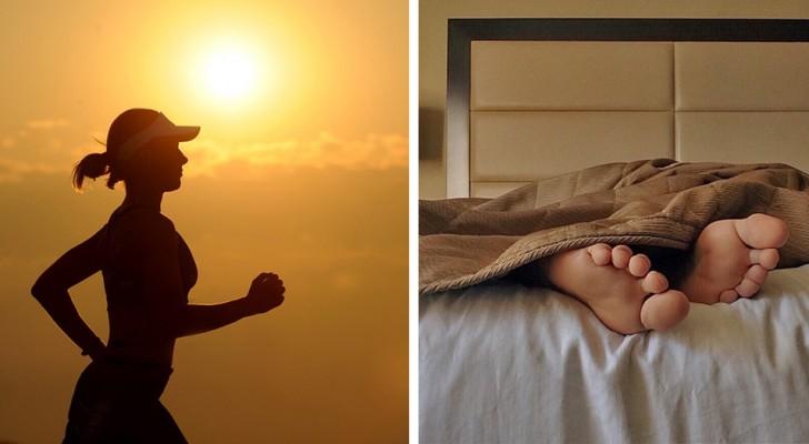 Alzarsi al mattino per fare sport o rimanere a dormire? Ecco cos'è che dà più benefici al corpo