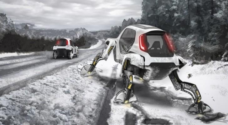 La Hyundai ha presentato il primo progetto di automobile con le gambe