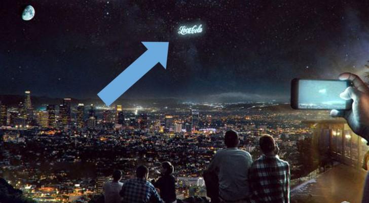 Questa startup vuole proiettare giganteschi annunci pubblicitari nel cielo notturno