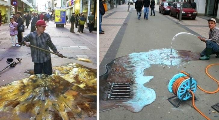 30 favolose illusioni tridimensionali disegnate dall'artista noto come Il Picasso dei marciapiedi