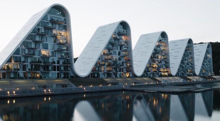 In Dänemark wurden wellenförmige Appartement-Blöcke eingeweiht: Sie respektieren die Landschaft und die kulturelle Identität