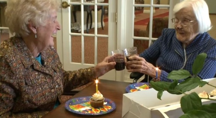 They met 84 years ago and have been friends ever since and every year they celebrate their birthday together!